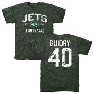 Javelin Guidry New York Jets Youth Green Distressed Name & Number Tri-Blend T-Shirt
