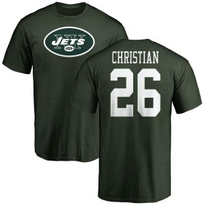 Marqui Christian New York Jets Youth Green Name & Number Logo T-Shirt -