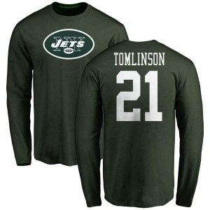 LaDainian Tomlinson New York Jets Youth Green Any Name & Number Logo Long Sleeve T-Shirt -