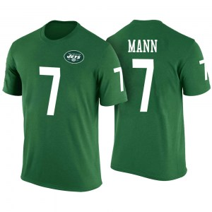 Braden Mann New York Jets Men's Legend Green Color Rush T-Shirt