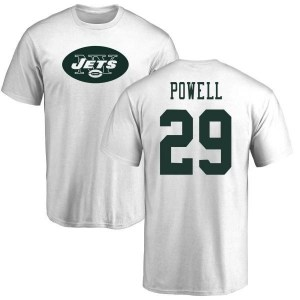 Bilal Powell New York Jets Youth White Pro Line Name & Number Logo T-Shirt -