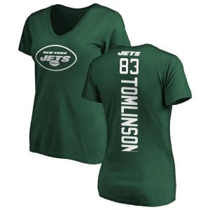 Eric Tomlinson New York Jets Women's Green Pro Line Backer Slim Fit T-Shirt -