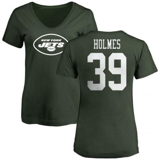 Valentine Holmes New York Jets Women's Green Any Name & Number Logo Slim Fit T-Shirt -