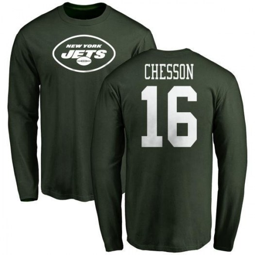 Jehu Chesson New York Jets Youth Green Name & Number Logo Long Sleeve T-Shirt -
