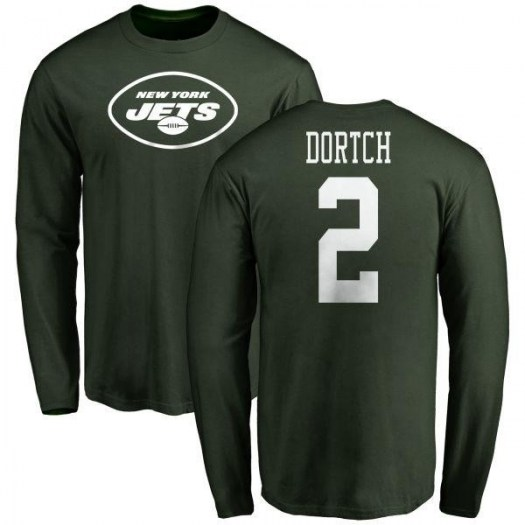 Greg Dortch New York Jets Youth Green Any Name & Number Logo Long Sleeve T-Shirt -