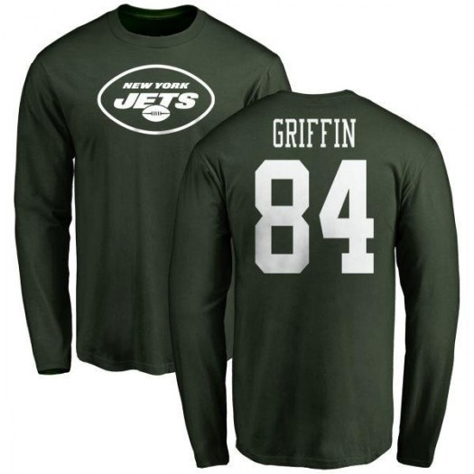 Ryan Griffin New York Jets Youth Green Any Name & Number Logo Long Sleeve T-Shirt -