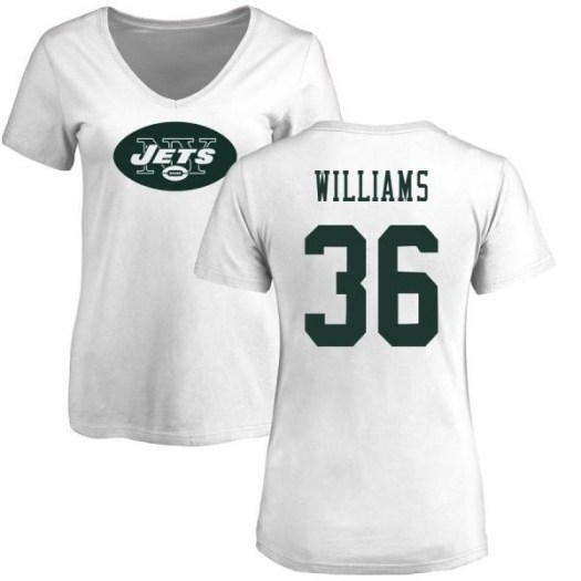 Terry Williams New York Jets Women's White Name & Number Logo Slim Fit T-Shirt -