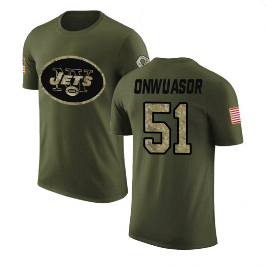 Patrick Onwuasor New York Jets Youth Legend Olive Salute to Service T-Shirt